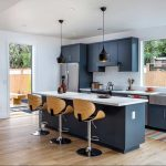 Improve The Aesthetics Of Your Kitchen With Blue Mid-Century Kitchen Cabinets